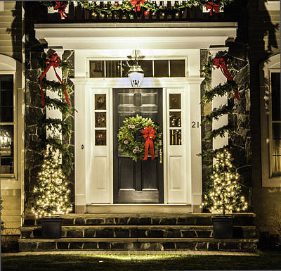 Art Print featuring the photograph Christmas Door 2 by Betty Denise