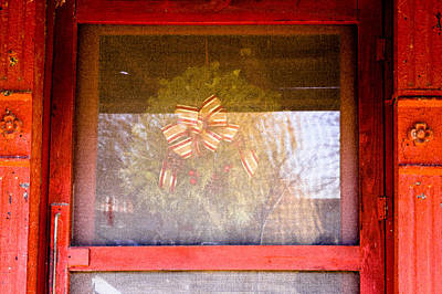 Photograph - Christmas Door by Audreen Gieger