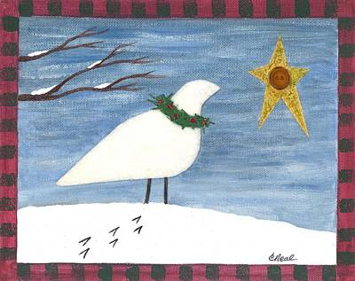 Mixed Media - Christmas Dove by Carol Neal