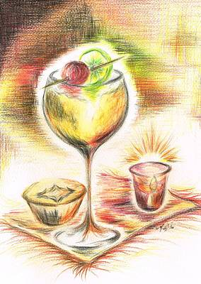 Cherry Pie Mixed Media - Christmas Drink by Teresa White