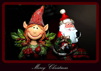 Photograph - Christmas Elf And Santa by Debra Forand