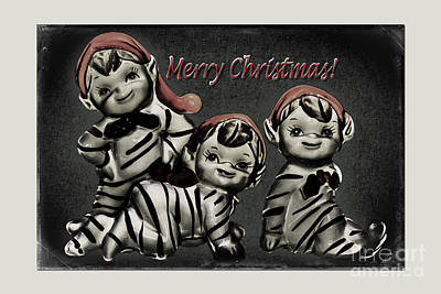 Photograph - Christmas Elves by Jean OKeeffe Macro Abundance Art