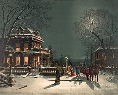 Christmas Eve 1880 Art Print