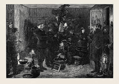 Christmas Eve At The Outposts Paris 1870 Art Print
