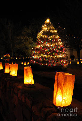 Luminaria Photograph - Christmas Eve In Tularosa New Mexico by Vivian Christopher