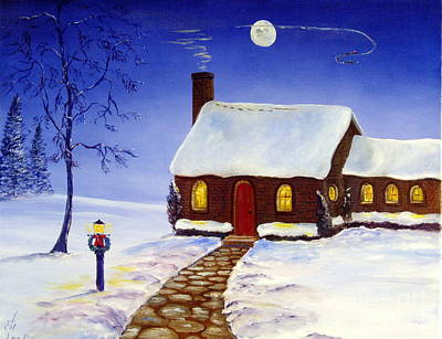 Art Print featuring the painting Christmas Eve by Lee Piper