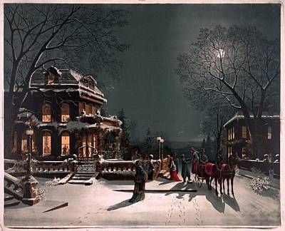 Christmas Eve Art Print by Unknown