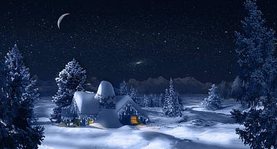 Digital Art - Christmas Eve by Virginia Palomeque