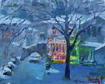 Decoration Painting - Christmas Eve by Ylli Haruni