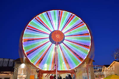 Photograph - Christmas Ferris Wheel by George Atsametakis