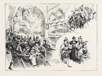 Assembly Hall Drawing - Christmas Fete At Mr. Charringtons Assembly Hall by English School