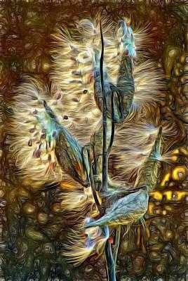 Common Milkweed Photograph - Christmas Floozy - Paint by Steve Harrington