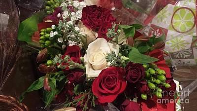 Christmas Floral Bouquet Art Print