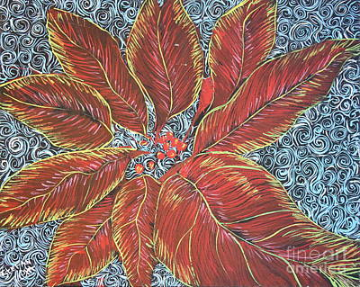 Painting - Christmas Flower by Stefan Duncan