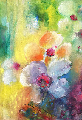 Impressionism Painting - Christmas Flowers For Mom 01 by Miki De Goodaboom