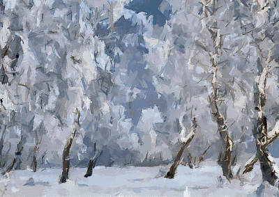 Excellent Christmas Gifts Digital Art - Christmas Forest 2 by Yury Malkov