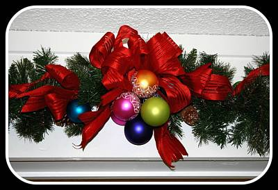 Digital Art - Christmas Garland by Holley Jacobs