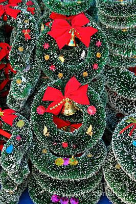 Christmas Garlands Art Print by James Brunker