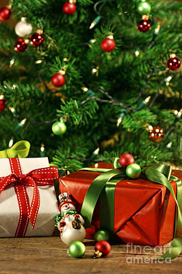 Photograph - Christmas Gifts Under A Tree  by Sandra Cunningham
