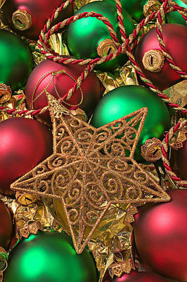 Photograph - Christmas Gold Star by Garry Gay