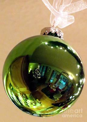 Photograph - Christmas Green Reflection by Chris Anderson