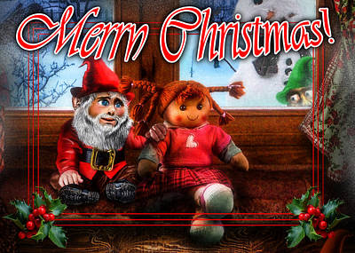 Rag Doll Digital Art - Christmas Greeting Card Vii by Alessandro Della Pietra