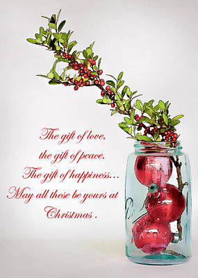 Photograph - Christmas Greeting by David and Carol Kelly