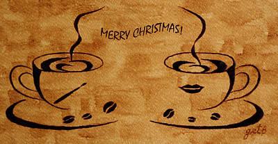 Painting - Christmas Greeting by Georgeta  Blanaru