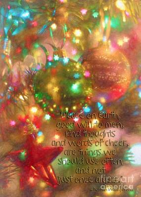 Photograph - Christmas Greeting by Peggy Hughes