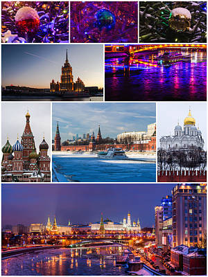 Christmas Greetings From Moscow - Featured 3 Print by Alexander Senin