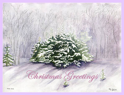 Painting - Christmas Greetings by Melly Terpening