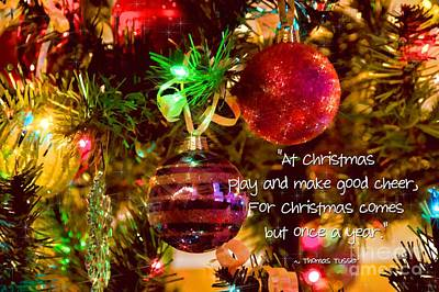 Photograph - Christmas Greetings by Peggy Hughes