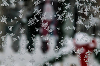 Photograph - Christmas Ice Crystals On Glass by Mick Anderson