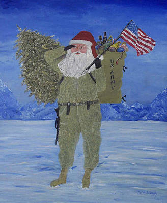 Christmas In Afghanistan  Art Print
