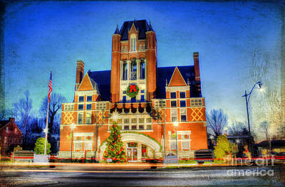 December Road Photograph - Christmas In Bardstown Kentucky by Darren Fisher