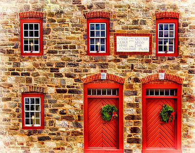 Christmas In Bethlehem Pa Art Print