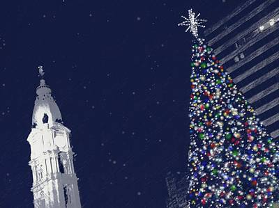Christmas In Center City Art Print by Photographic Arts And Design Studio