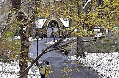 Photograph - Christmas In Central Park by Carol  Bradley