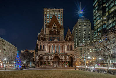 Christmas In Copley  Art Print
