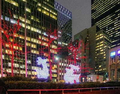 Photograph - Christmas In Manhattan 002 by Jeff Stallard