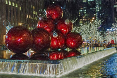 Digital Art - Christmas In New York City by Susan Candelario