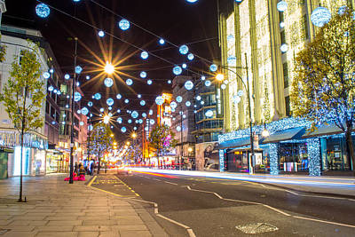 Photograph - Christmas In Oxford Street by Andrew Lalchan