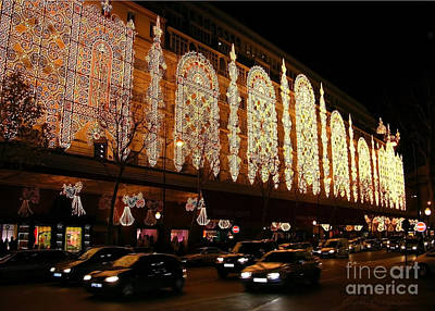 France Photograph - Christmas In Paris - Gallery Lights by Carol Groenen