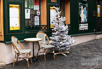 Photograph - Christmas In Paris by John Rizzuto