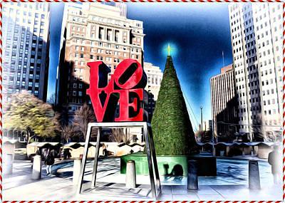 Christmas In Philadelphia Art Print by Bill Cannon