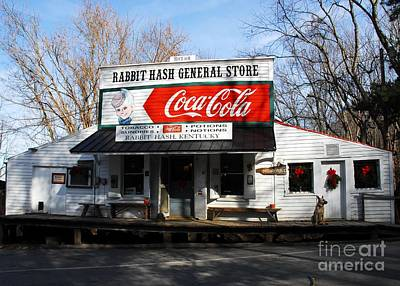 Coca-cola Signs Photograph - Christmas In Rabbit Hash by Mel Steinhauer