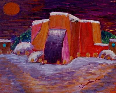 Painting - Christmas In Ranchos by Carolene Of Taos