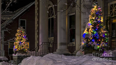 Christmas In Stowe Vermont. Art Print