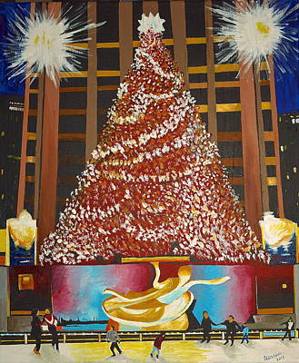 Painting - Christmas In The City by Donna Blossom