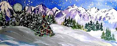 Christmas In The Mountains Art Print